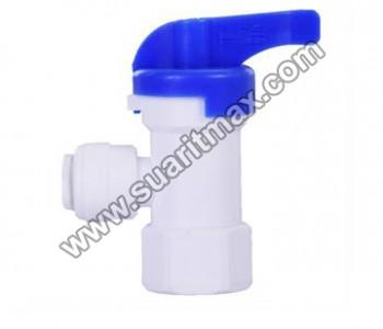 1/4 Su Arıtma Cihazı Quick Tank Vanası : 1/4 Plastik Quick Tank Vanası
