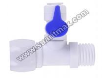 Su Arıtma Cihazı 1/2 Plastik Hat Alma Vanası : Reverse Osmosis 1/2 Plastik Hat Alma Vanası